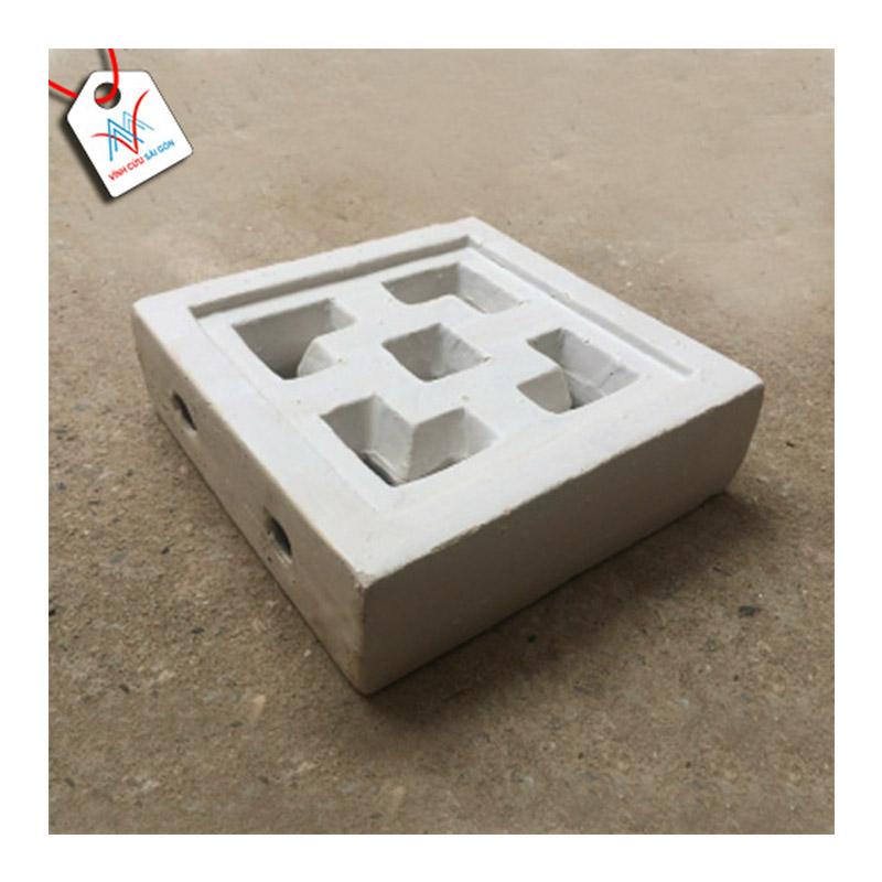Gạch thông gió Cube men mát trắng VCSG-TGM-V20 (20x20x6 cm)