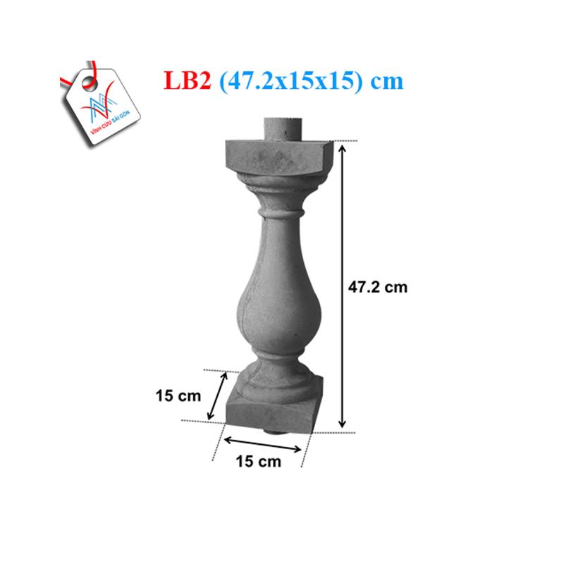 Lục bình bầu trơn 50 - LB2 (47,2x15x15 cm)