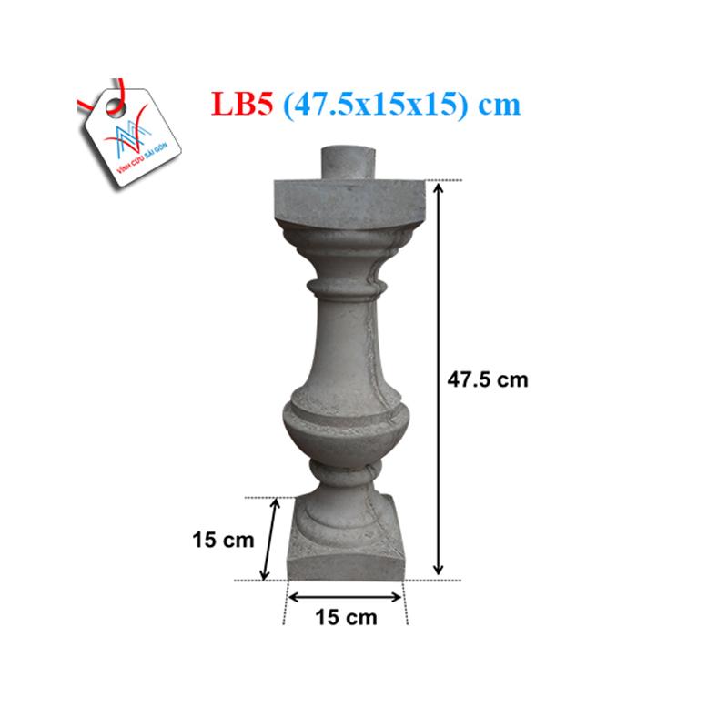 Lục bình bát khuyết 50 - LB5 (47,5x15x15 cm)